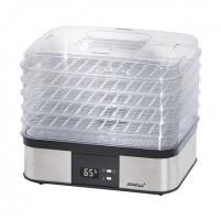 Maisto džiovyklė Steba Food dryer ED5 Silver/ black, 350 W, Number of trays 5, Temperature control, Integrated timer Maisto/ vaisių džiovintuvai