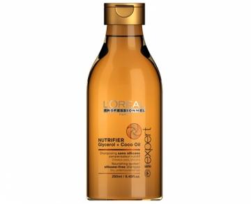 Maitinantis šampūnas sausiems plaukams Loreal Nutrifier (Nourishing System Silicone-Free Shampoo) Šampūnai plaukams