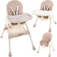 """Maitinimo kėdė """"Kruzzel"""", 3in1, rožinė Barošanas krēsli"""