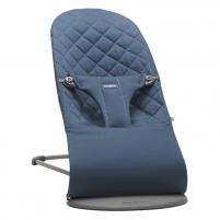 Maitinimo kėdutė- supuoklė Bouncer Bliss, Midnight blue (Cotton) Vaikiški baldai, maitinimo kėdutės