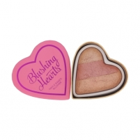 Makeup Revolution London Blushing Hearts Baked Blusher Cosmetic 10g Peachy Keen Heart Румяна для лица