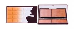 Makeup Revolution London I Heart Makeup Bronze And Shimmer Chocolate Bronzer 11g Duo Palette Румяна для лица