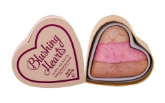 Makeup Revolution London I Love Makeup Blushing Hearts Triple Baked Blusher Cosmetic 10g Iced Hearts Skaistalai veidui