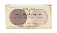 Makeup Revolution London Revolution PRO Savanna Nights Sculpt And Glow Makeup Palette 4g Румяна для лица