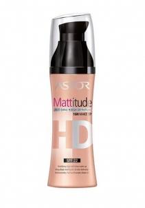 Makiažo pagrindas Astor HD Mattitude Anti Shine 16H Make Up Cosmetic 30ml 001 Ivory Makiažo pagrindas veidui