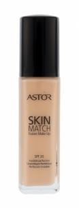 Makiažo pagrindas Astor Skin Match Fusion Make Up SPF20 Cosmetic 30ml 100 Ivory Makiažo pagrindas veidui