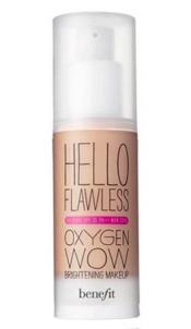 Benefit Hello Flawless Oxygen Wow Makeup SPF25 30ml Beige Pamatojoties uz make-up uz sejas