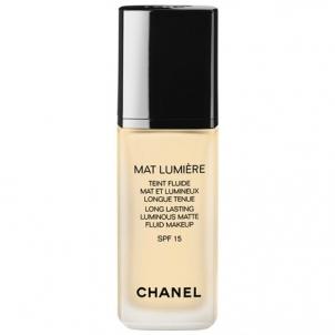 Makiažo pagrindas Chanel Mat Lumiere Teint Fluide SPF15 Cosmetic 30ml 60 Hale Makiažo pagrindas veidui