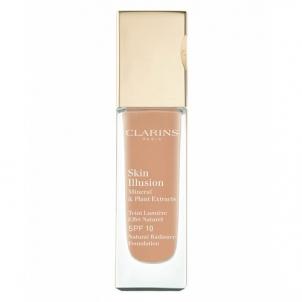 Makiažo pagrindas Clarins Skin Illusion Foundation SPF10 Cosmetic 30ml Chestnut Makiažo pagrindas veidui