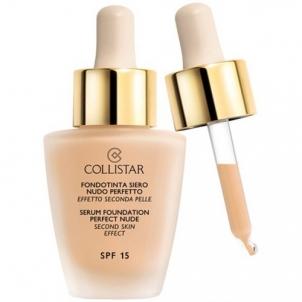 Makiažo pagrindas Collistar Liquid makeup with serum for the appearance of bare skin (Serum Foundation Perfect Nude) 30 ml 02 Beige Makiažo pagrindas veidui