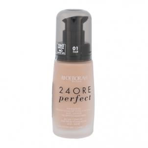 Makiažo pagrindas Deborah Milano 24Ore Perfect Foundation SPF10 Cosmetic 30ml Shade 01 Fair Makiažo pagrindas veidui