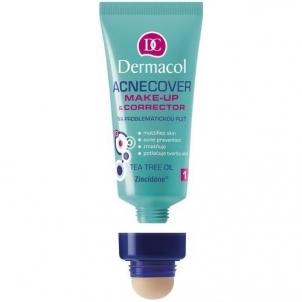 Makiažo pagrindas Dermacol Acnecover Make-Up & Corrector 01 Cosmetic 30ml Makiažo pagrindas veidui