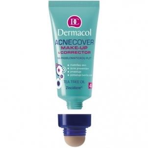 Makiažo pagrindas Dermacol Acnecover Make-Up & Corrector 04 Cosmetic 30ml Makiažo pagrindas veidui