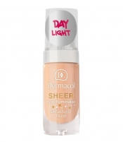 Makiažo pagrindas Dermacol Sheer Face Illuminator Cosmetic 15ml Day light Makiažo pagrindas veidui