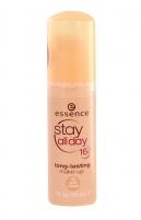 Makiažo pagrindas Essence Stay All Day 16H Long Lasting Make-up Cosmetic 30ml 30 Soft Sand Makiažo pagrindas veidui