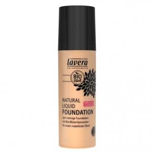 Makiažo pagrindas Lavera Natural and organic fluid makeup (Natural Liquid Foundation) 30 ml 03 Med Makiažo pagrindas veidui