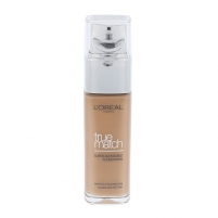 Makiažo pagrindas L´Oreal Paris True Match Super Blendable Foundation SPF17 Cosmetic 30ml Shade D6.5-W6.5 Golden Toffee Pamatojoties uz make-up uz sejas