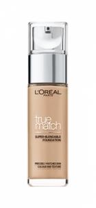 Makiažo pagrindas Loreal Paris Unifying and perfecting make-up True Match (super-blendable Foundation) 30 ml Makiažo pagrindas veidui