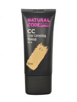 Makiažo pagrindas Lumene Natural Code CC Color Correcting Makeup SPF20 Cosmetic 25ml Shade 1 Ivory Makiažo pagrindas veidui