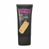 Makiažo pagrindas Lumene Natural Code CC Color Correcting Makeup SPF20 Cosmetic 25ml Shade 2 Nude Makiažo pagrindas veidui