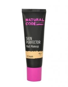 Makiažo pagrindas Lumene Natural Code Skin Perfector Matt Makeup Cosmetic 30ml Shade 11 Cream Makiažo pagrindas veidui