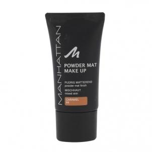 Makiažo pagrindas Manhattan Powder Mat Make Up Cosmetic 30ml Shade 84 Caramel Makiažo pagrindas veidui