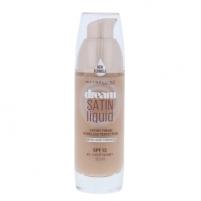Makiažo pagrindas Maybelline Dream Satin Liquid Foundation SPF13 Cosmetic 30ml Shade 45 Light Honey Makiažo pagrindas veidui