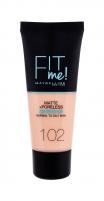 Makiažo pagrindas Maybelline Fit Me! 102 Fair Ivory Matte + Poreless Makeup 30ml
