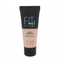 Makiažo pagrindas Maybelline Fit Me Matte + Poreless Foundation Cosmetic 30ml hade 115 Ivory