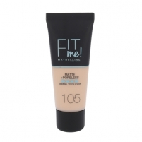 Makiažo pagrindas Maybelline Fit Me Matte + Poreless Foundation Cosmetic 30ml Shade 105 Natural Ivory