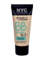 Makiažo pagrindas NYC New York Color BB Creme 5in1 Instant Matte Cosmetic 30ml 02 Medium Makiažo pagrindas veidui