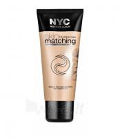 Makiažo pagrindas NYC New York Color Skin Matching Foundation Makeup 30ml 687 Light To Medium Makiažo pagrindas veidui