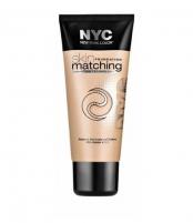 Makiažo pagrindas NYC New York Color Skin Matching Foundation Makeup 30ml 691 Honey Light Makiažo pagrindas veidui