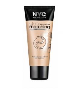 Makiažo pagrindas NYC New York Color Skin Matching Foundation Makeup Cosmetic 30ml Makiažo pagrindas veidui