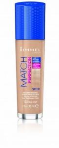 Makiažo pagrindas Rimmel Hydrating Makeup & Perfect Match Foundation 100 Ivory Makiažo pagrindas veidui