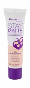 Makiažo pagrindas Rimmel London Stay Matte 010 Light Porcelain Liquid Mousse Foundation Makeup 30ml
