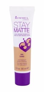 Makiažo pagrindas Rimmel London Stay Matte Liquid Mousse Foundation 30ml 300 Sand Makiažo pagrindas veidui