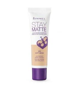 Makiažo pagrindas Rimmel London Stay Matte Liquid Mousse Foundation Cosmetic 30ml 200 Soft Beige Makiažo pagrindas veidui