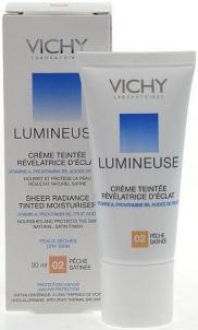 Makiažo pagrindas Vichy Lumineuse Tinted Moisturiser Cream 02 Dry Skin Cosmetic 30ml Makiažo pagrindas veidui