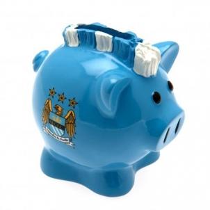 Manchester City F.C. kiaulė taupyklė (su skiautere)