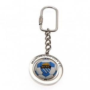 Manchester City F.C. sukamas raktų pakabukas