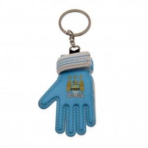 Manchester City F.C. vartininko pirštinės formos raktų pakabukas