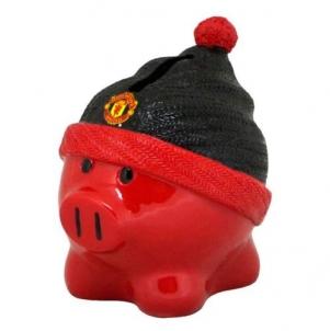 Manchester United F.C. kiaulė taupyklė (su kepure)