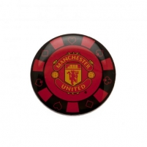 Manchester United F.C. prisegamas ženklelis - pokerio žetonas