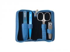 Manikiūro rinkinys Credo Solingen Luxury Design New Generation - Blue Rankų priežiūros priemonės