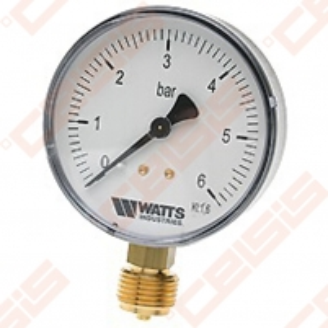 Manometras MDR 63/10 1/4'' Technical pressure gauge