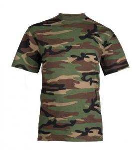 Marškinėliai vaikiški woodland Mil-Tec Tactical krekli, vestes