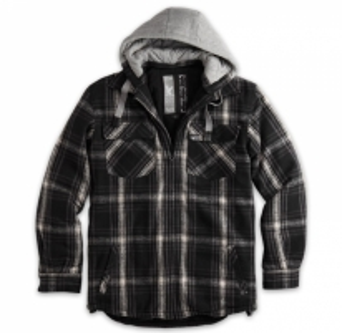 Marškiniai LUMBERJACK JACKET su kapišonu Surplus 20-3525-03 black Tactical shirts, vests