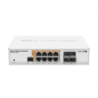 Maršrutizatorius MikroTik Cloud Router Switch CRS112-8P-4S-IN SFP ports quantity 4, Dual Power Suply: 28V 3.4V included. (Optional additional power adapter 48-57V if POE+ is required) W, Managed, 8 Maršrutizatoriai kompiuteriams