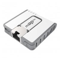 Maršrutizatorius MikroTik mAP lite RouterOS L4 64MB RAM, 1xLAN, 802.11b/g/n, PoE in 802.3at or 5V